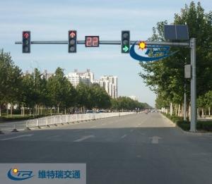 交通信号灯杆的安装位置