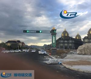 交通信号灯缓解了城市的拥堵