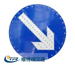 庆阳圆形太阳能交通标志牌