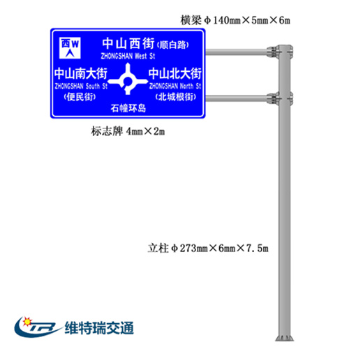 城区交通标志牌